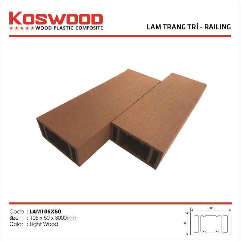 Lam trang trí gỗ nhựa ngoài trời KOSWOOD