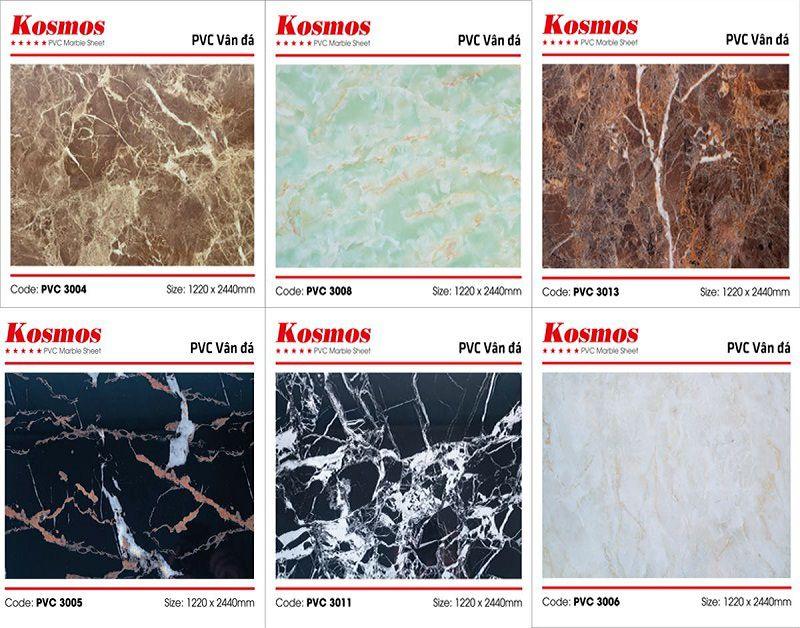 Mẫu tấm ốp tường PVC vân đá bán chạy nhất tại KOSMOS
