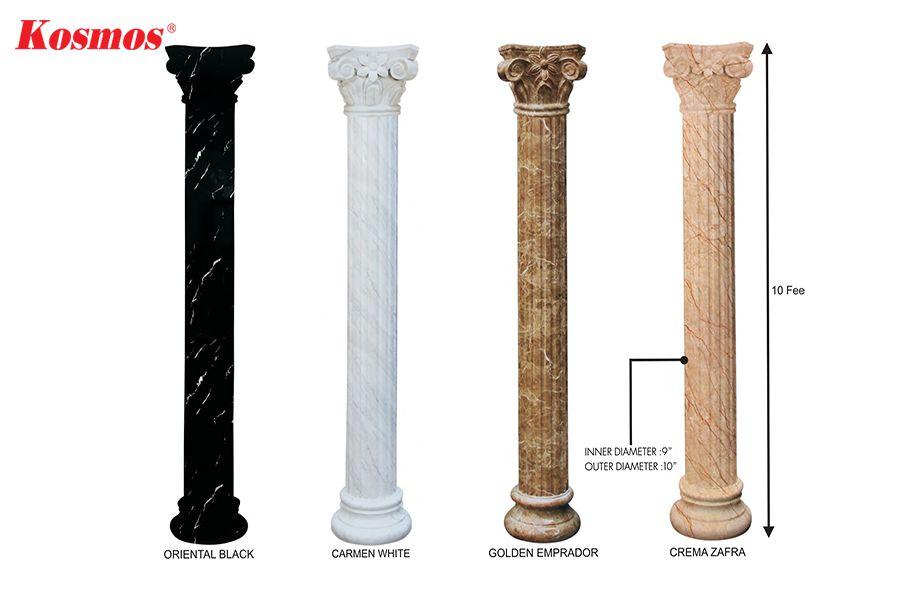Ốp cột bằng tấm nhựa giả đá