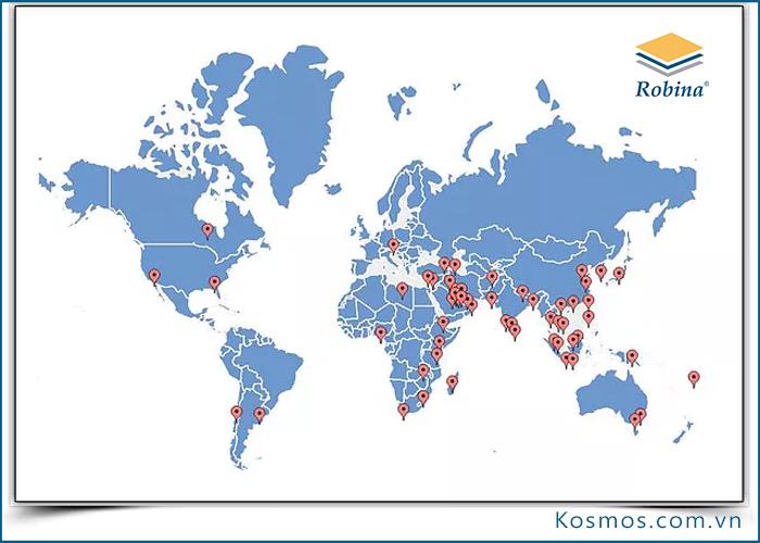 Sàn gỗ Robina phân phối hơn 50 quốc gia trên thế giới