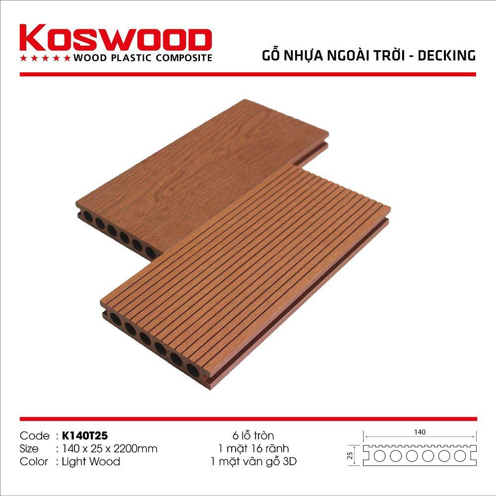 Sàn gỗ nhựa ngoài trời KOSWOOD