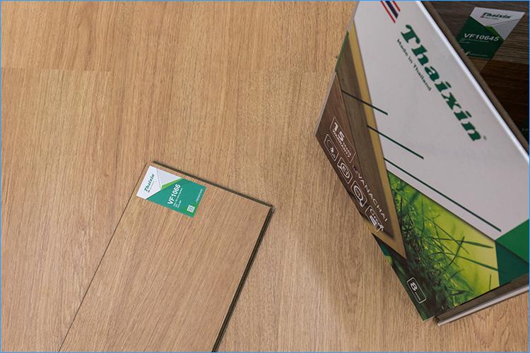 Sàn gỗ thương hiệu Thaixin lõi xanh siêu chịu nước