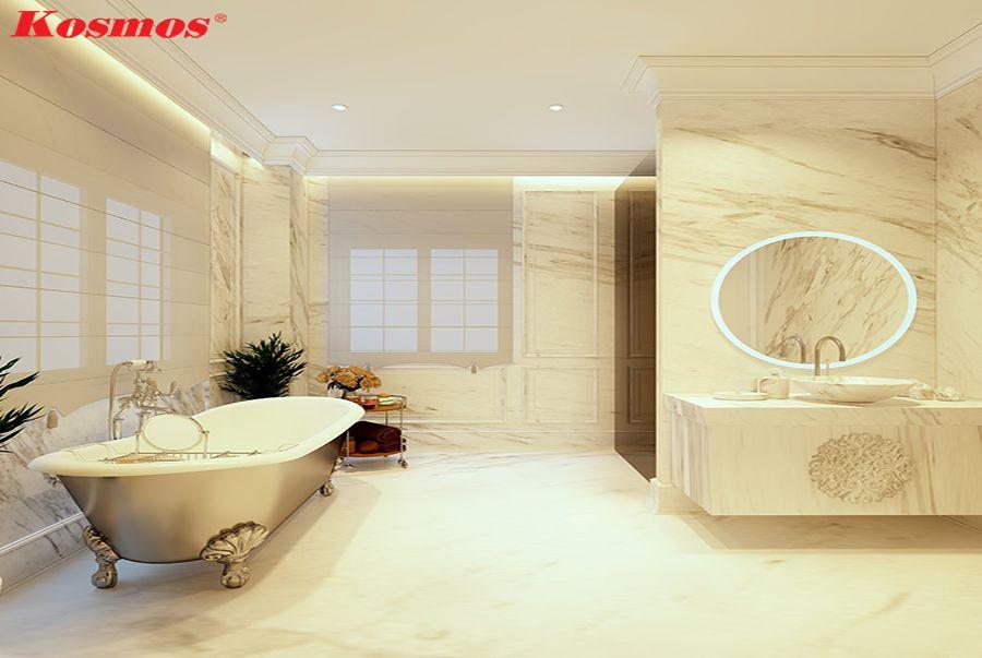 Tấm ốp tường nhựa giá đá trong nhà tắm