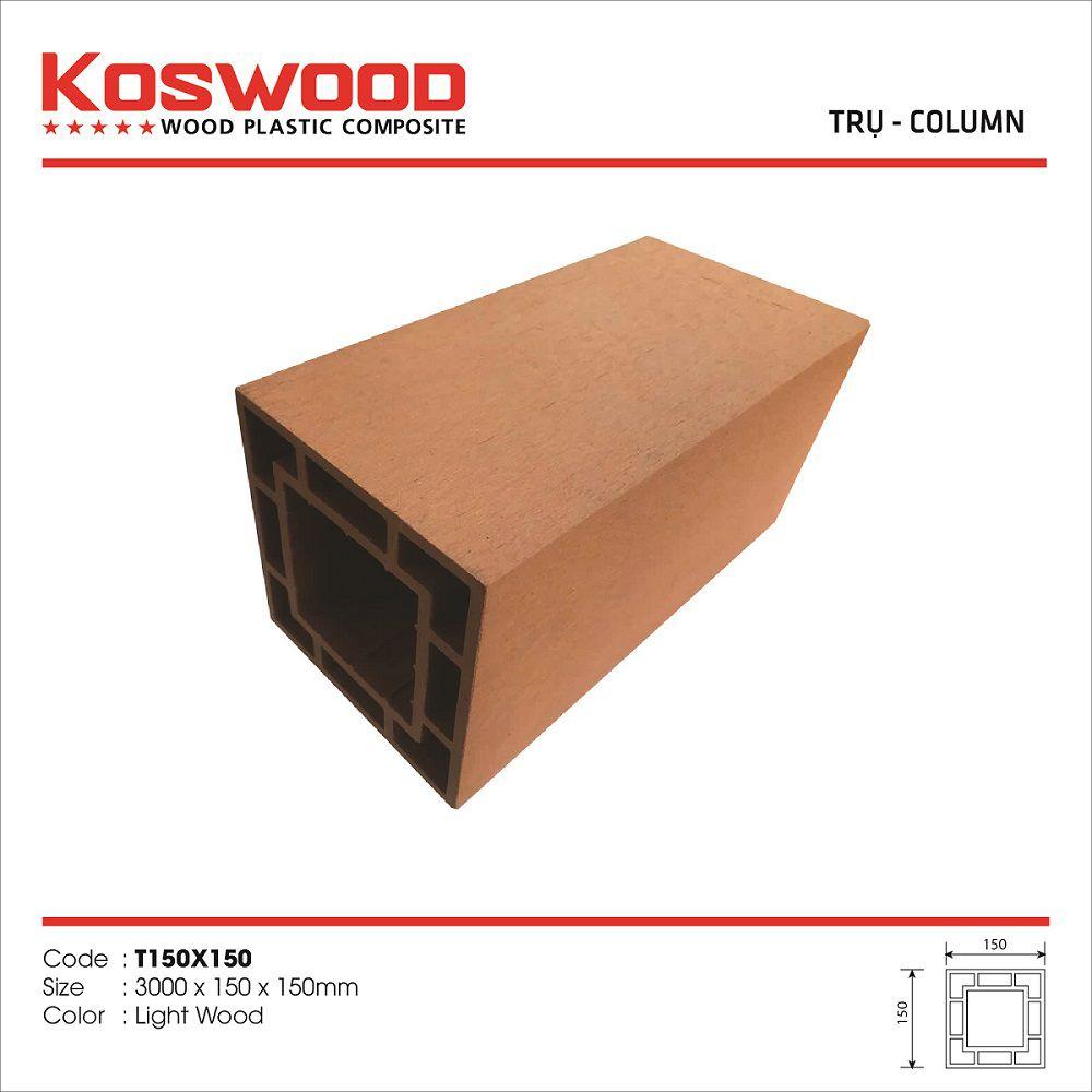 Trụ gỗ nhựa ngoài trời KOSWOOD